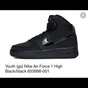 Nike Shoes Air Force 1 High Top Patent Leather Black Poshmark